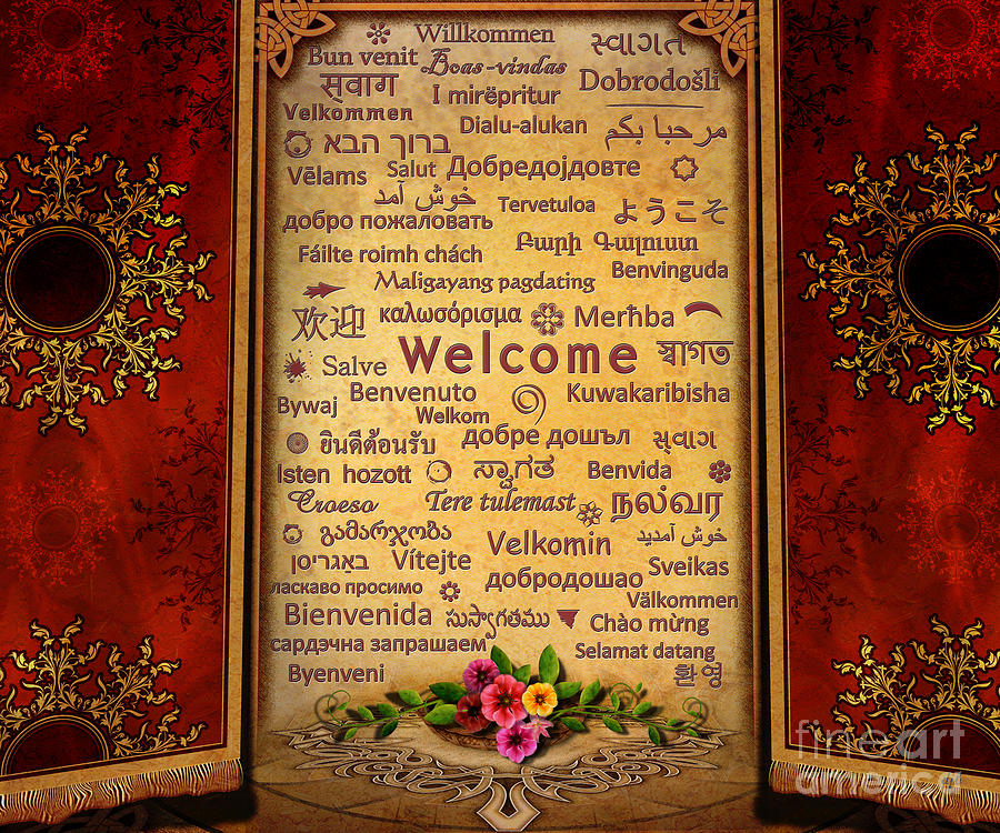 Welcome Digital Art  - Welcome Fine Art Print