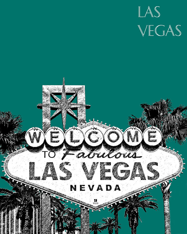 Welcome To Las Vegas Digital Art  - Welcome To Las Vegas Fine Art Print