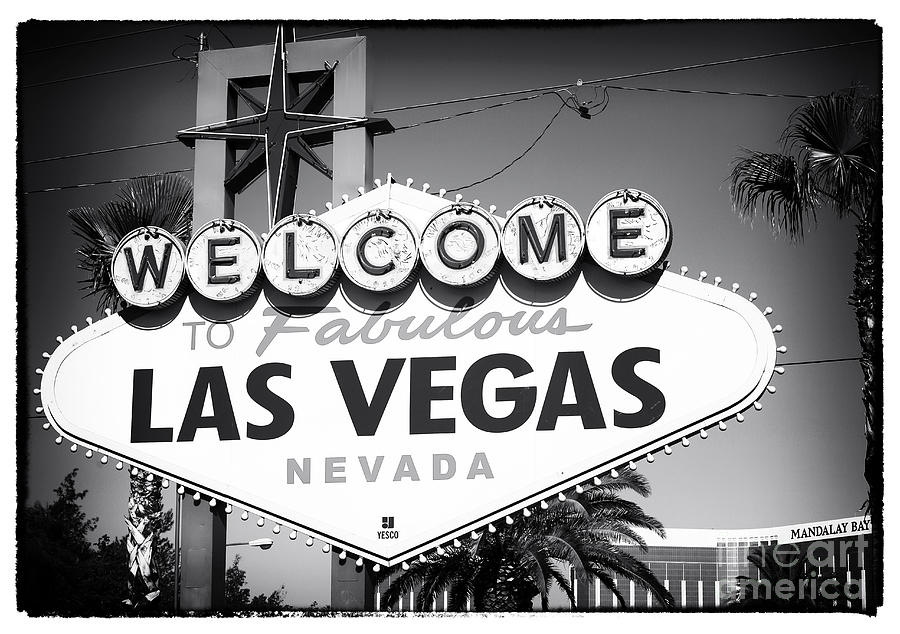 Welcome To Las Vegas Noir Photograph  - Welcome To Las Vegas Noir Fine Art Print