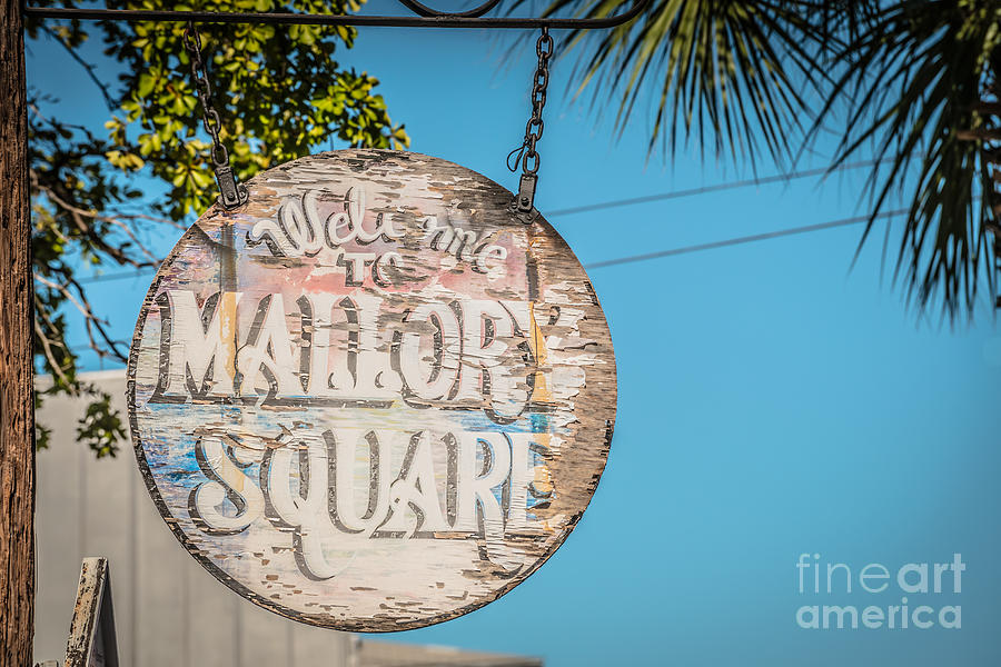 Welcome To Mallory Square Key West 2  - Hdr Style Photograph