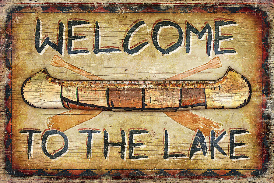 Welcome To The Lake Painting