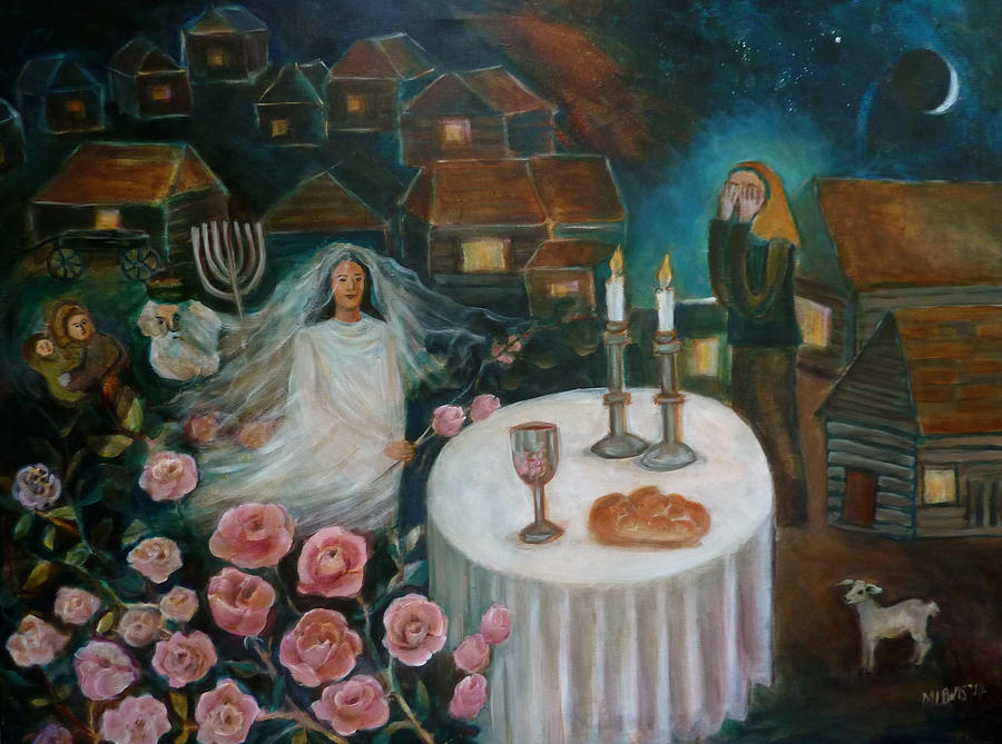 Welcoming The Sabbath Bride Painting By Melanie Lewis