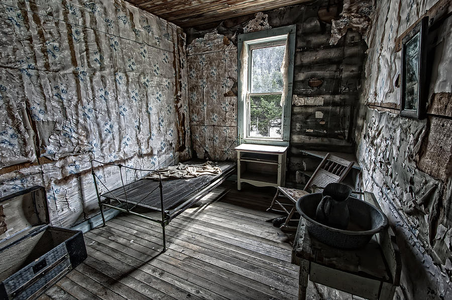Wells Hotel Room 2 - Garnet Ghost Town - Montana Photograph