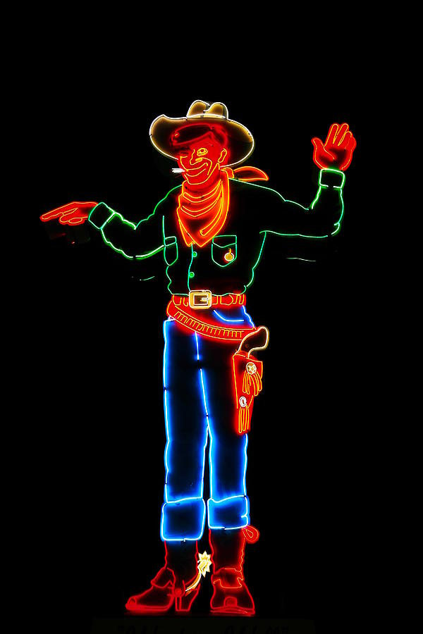 Lights Photograph - Wendover Willie by Jeff Swan