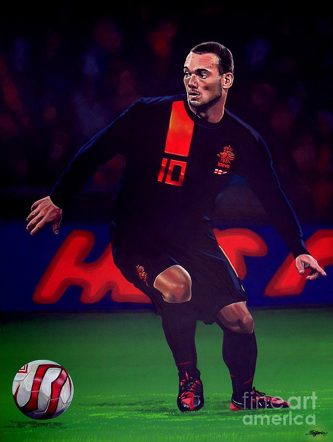 Wesley Sneijder Painting - Wesley Sneijder  by Paul Meijering