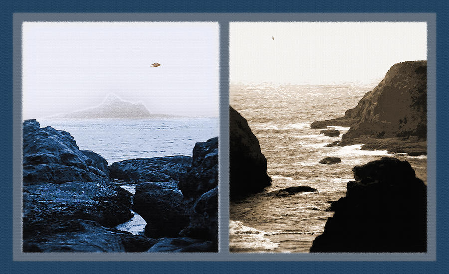 West Coast Scenes Diptych 2 Photograph
