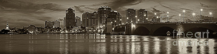 West Palm Beach Sepia Photograph