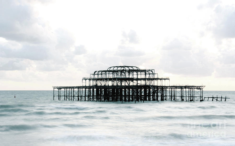 West Pier Silhouette Photograph