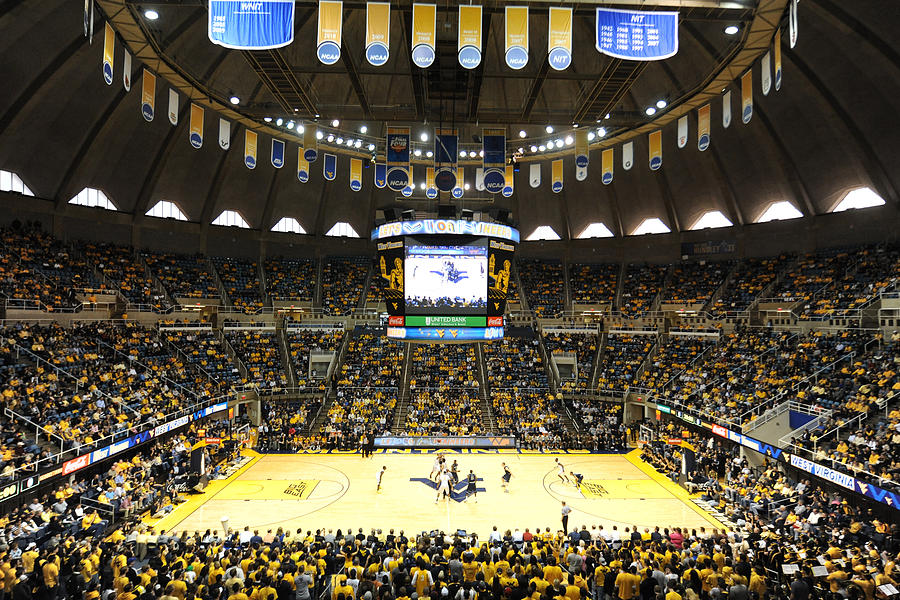 West Virginia Mountaineers Wvu Coliseum Photograph  - West Virginia Mountaineers Wvu Coliseum Fine Art Print