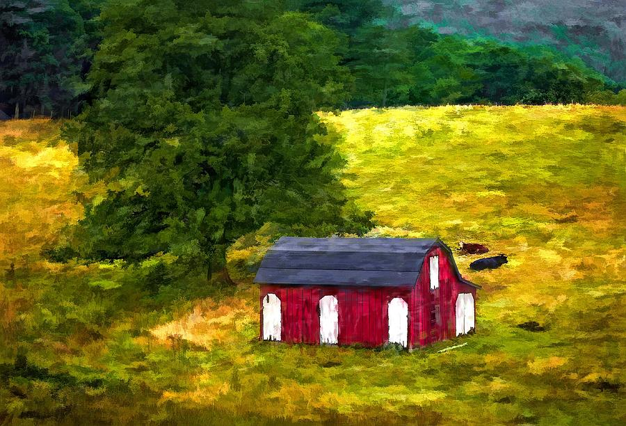 West Virginia Painted Photograph  - West Virginia Painted Fine Art Print