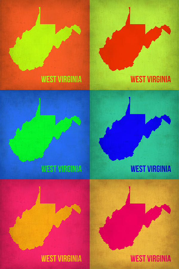 West Virginia Pop Art Map 1 Painting