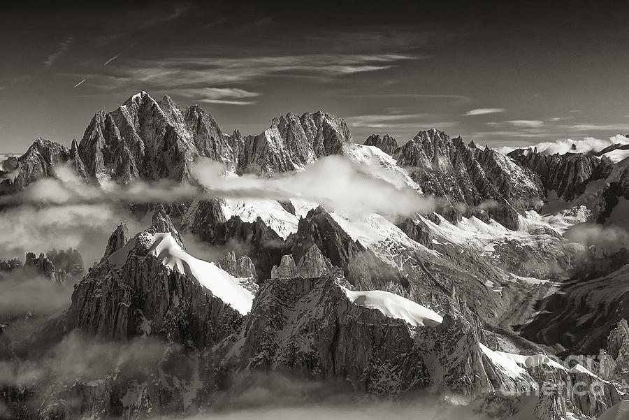 Western Alps Photograph - Western Alps - Panorama by Juergen Klust