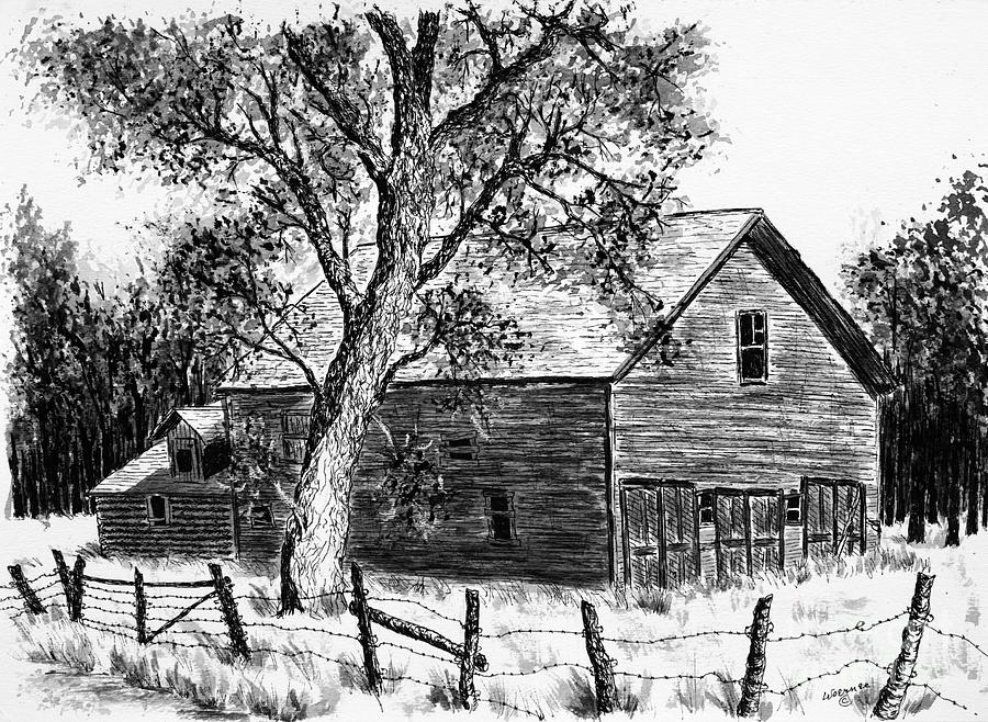 Western Barn Drawing
