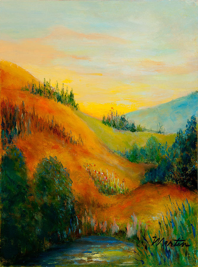 Landscapes Painting - Western Hills by Larry Martin