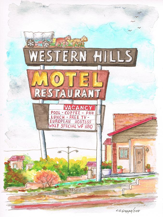 Western Hills Motel In Route 66 Flagstaff - Arizona Painting