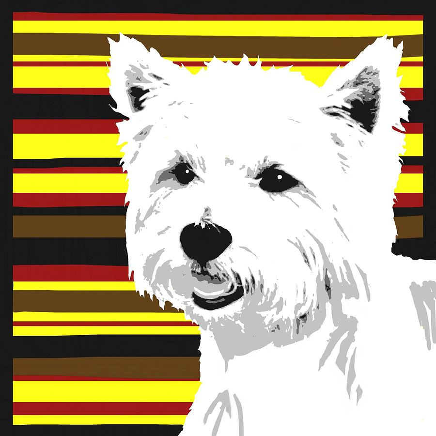 Westie Digital Art