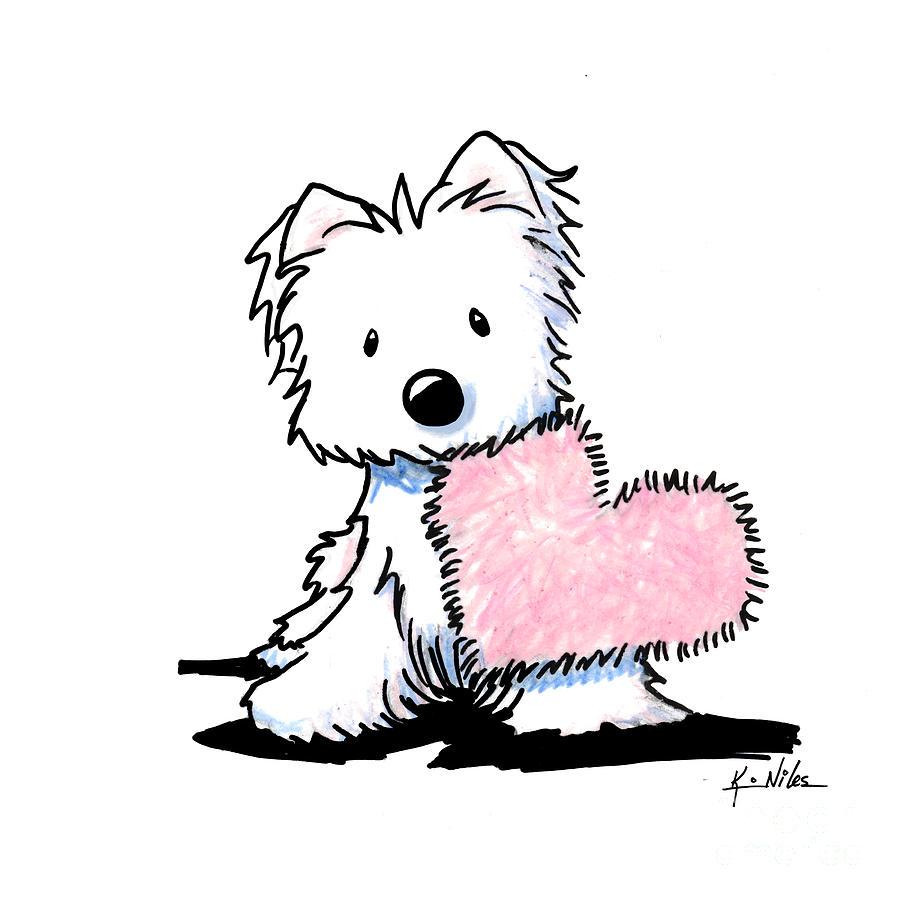 westie heart and soul drawing by kim niles Westies Clip Art Animation westie christmas clipart