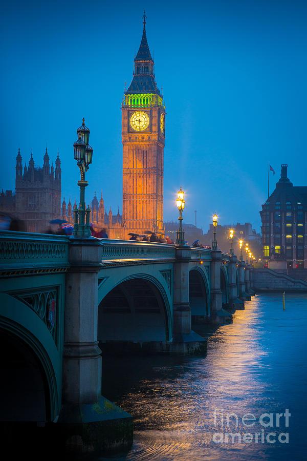 Westminster Bridge At Night Photograph