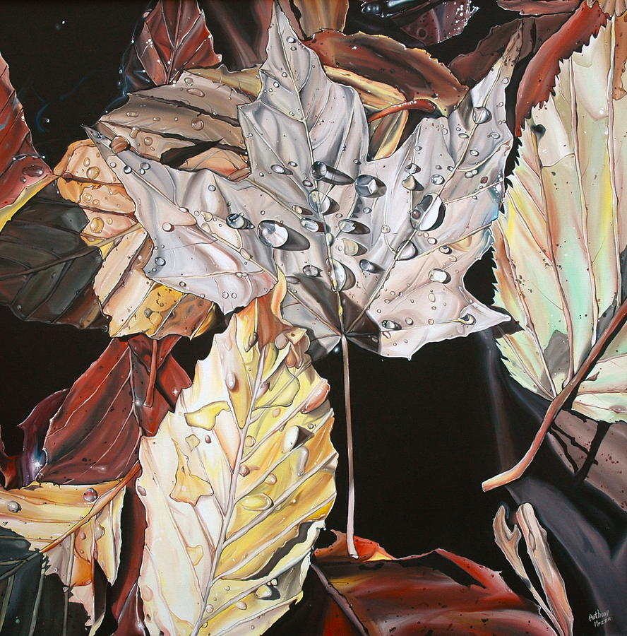 Wet Leaves Painting