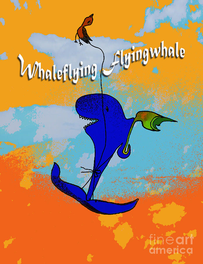 Whale Flying Flying Whale Drawing