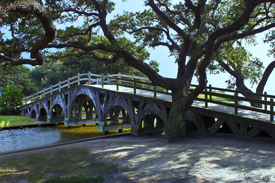 Whalehead Club Footbridge Photograph  - Whalehead Club Footbridge Fine Art Print
