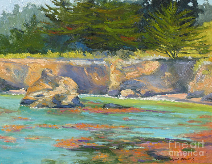 Whalers Cove Point Lobos Painting