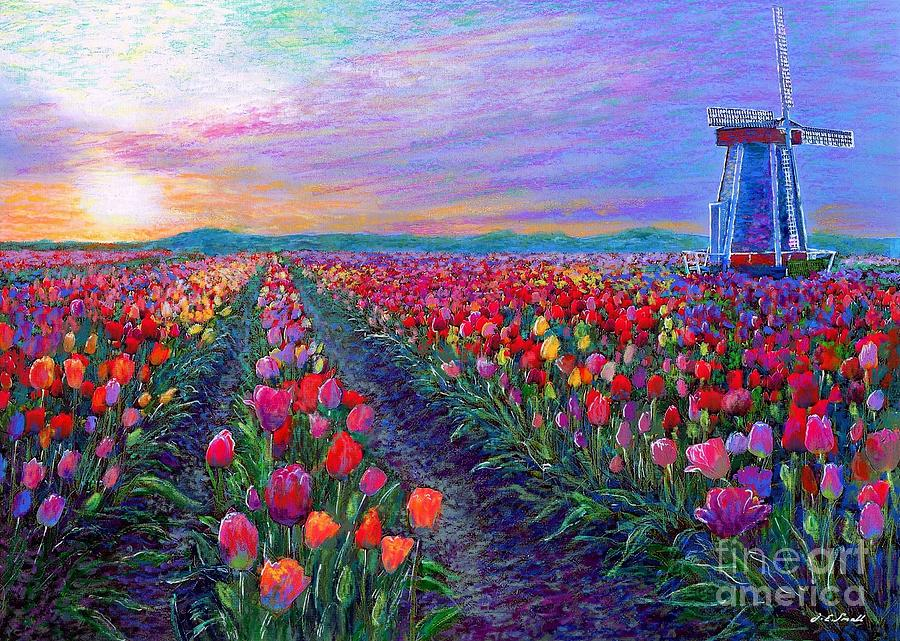 Tulip Fields, What Dreams May Come Painting