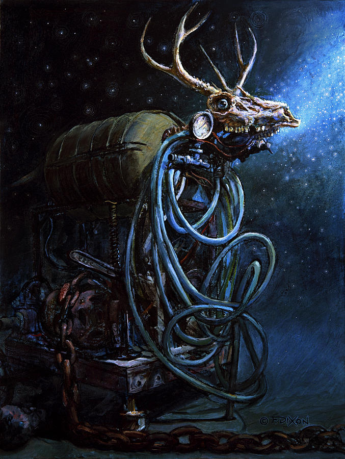 Fantasy Creatures Painting - What If... by Frank Robert Dixon