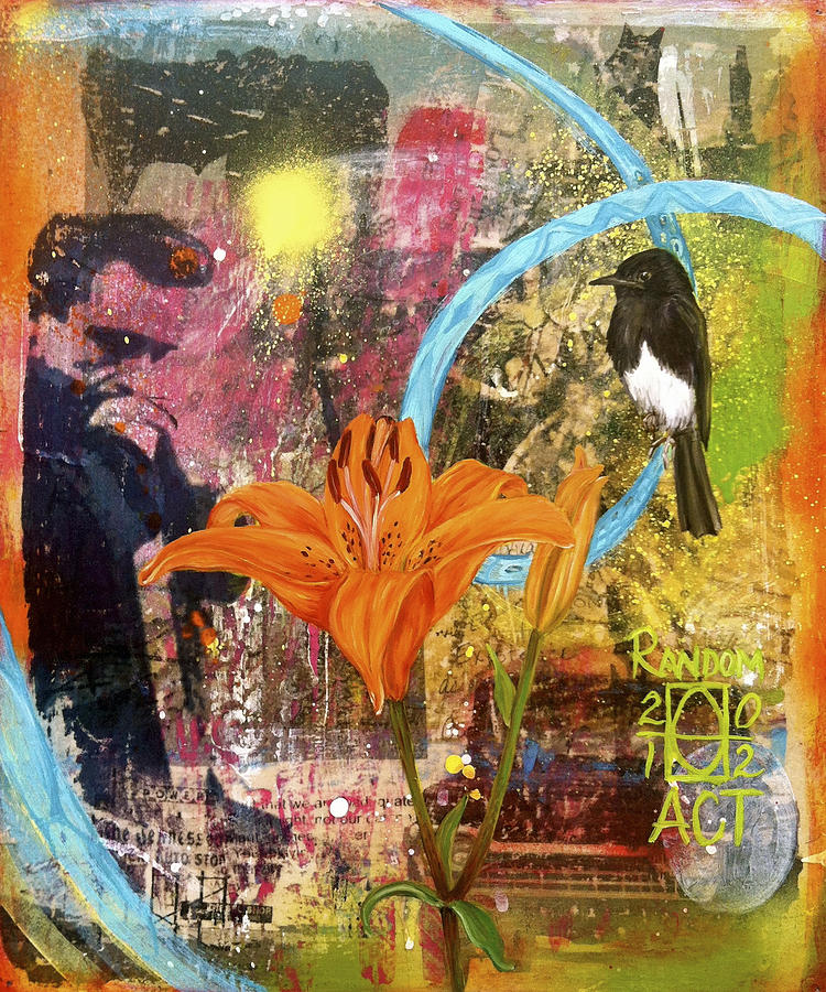 Whats Up Tiger Lily Mixed Media