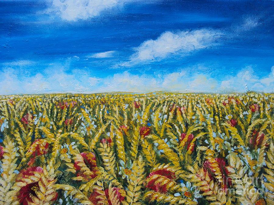 Wheat Field – Oil Painting | Fine Arts Gallery - Original fine Art ...