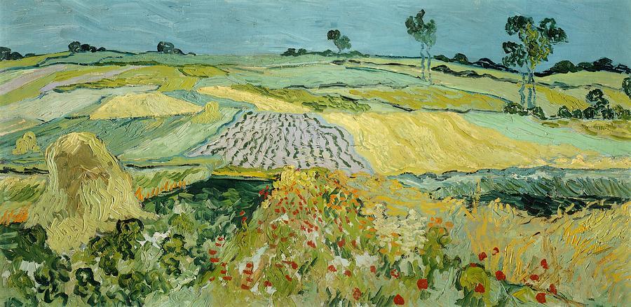 Wheatfields Near Auvers-sur-oise Painting