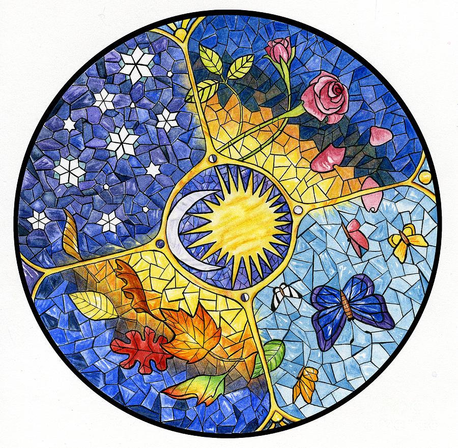 Wheel Of The Year Painting By Antony Galbraith