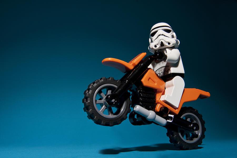 Lego Photograph - Wheelie by Samuel Whitton