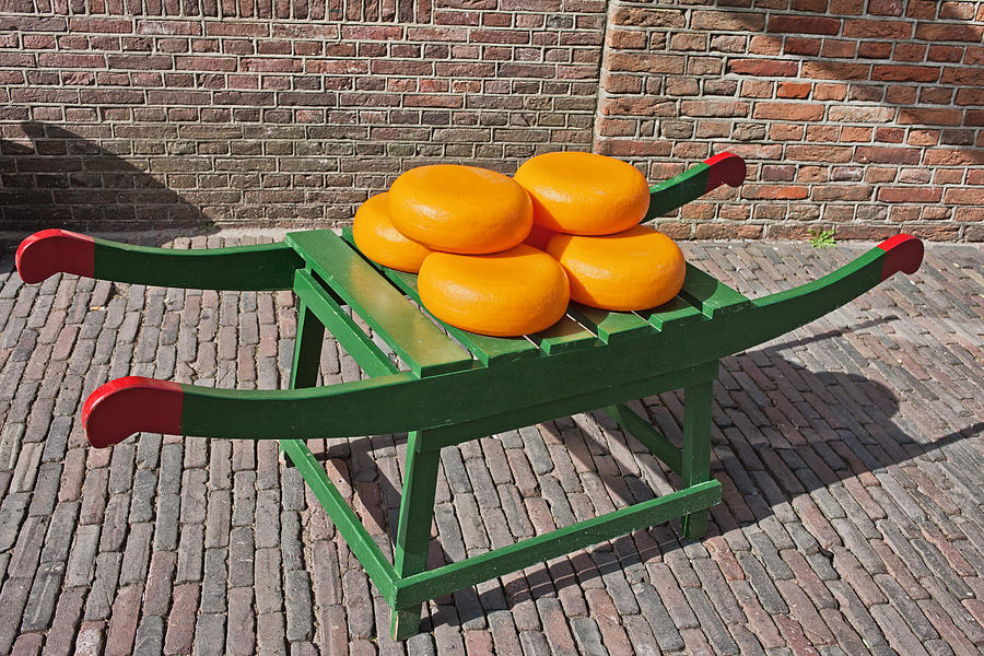 Wheels Of Dutch Gouda Cheese Photograph  - Wheels Of Dutch Gouda Cheese Fine Art Print