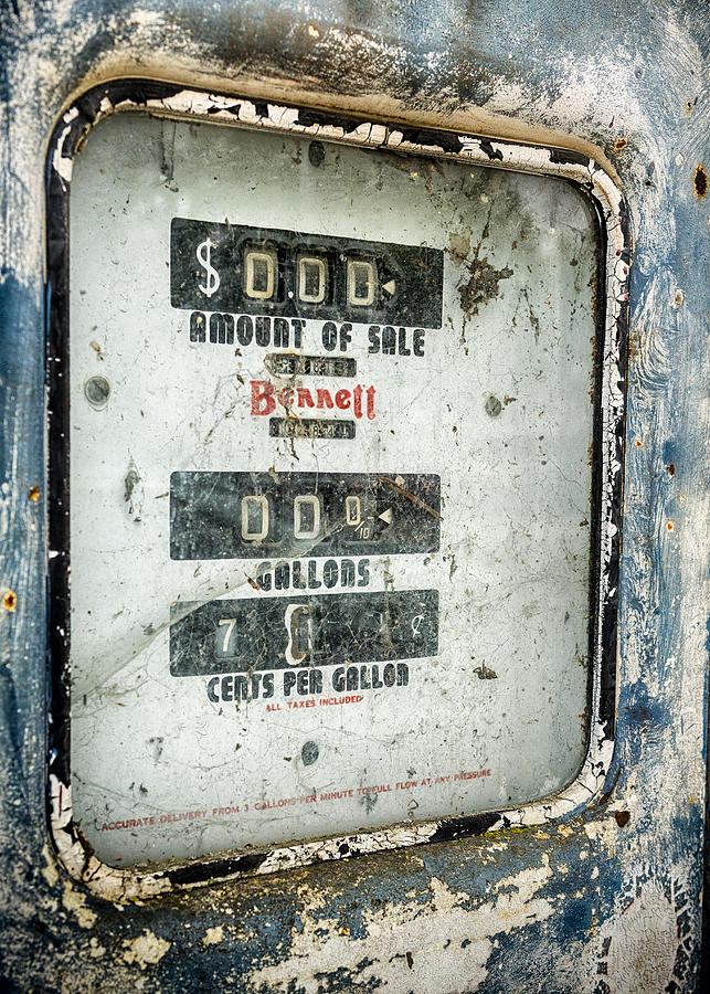 Gas Pump Photograph - When Gas Made Cents by Caitlyn  Grasso