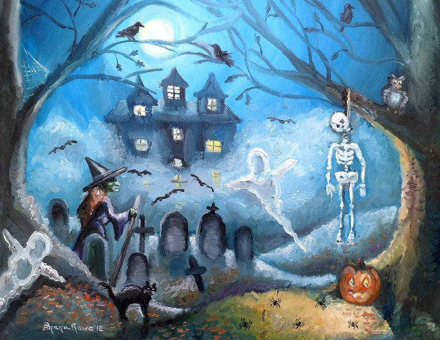 Halloween Painting - When October Comes by Shana Rowe Jackson