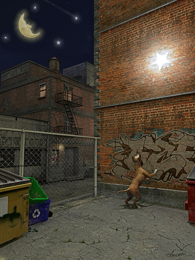 When Stars Fall In The City Digital Art  - When Stars Fall In The City Fine Art Print