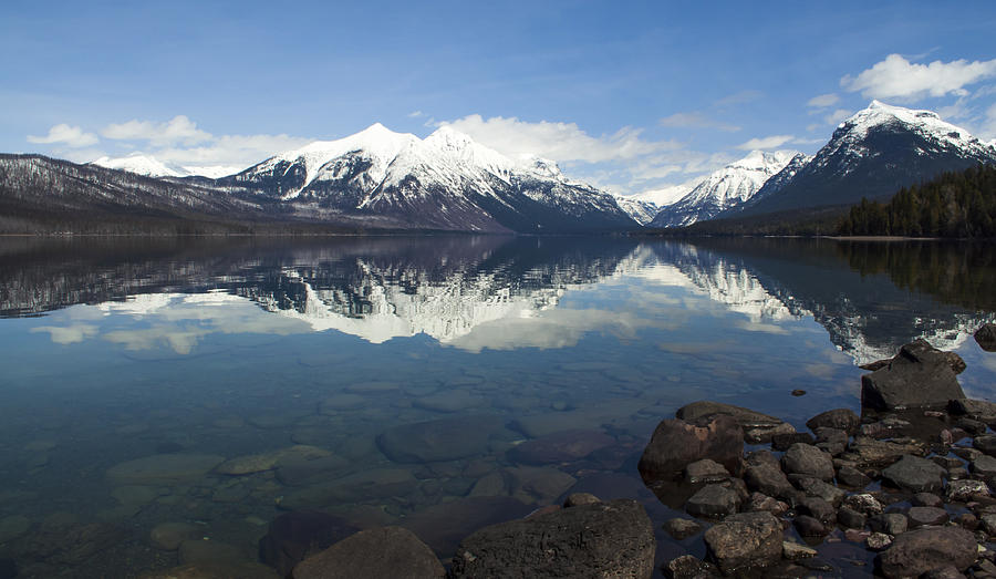 Montana Photograph - When The Sun Shines On Glacier National Park by Fran Riley