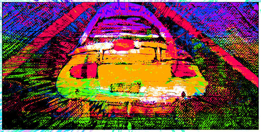Where No Car Has Gone Before Mixed Media  - Where No Car Has Gone Before Fine Art Print