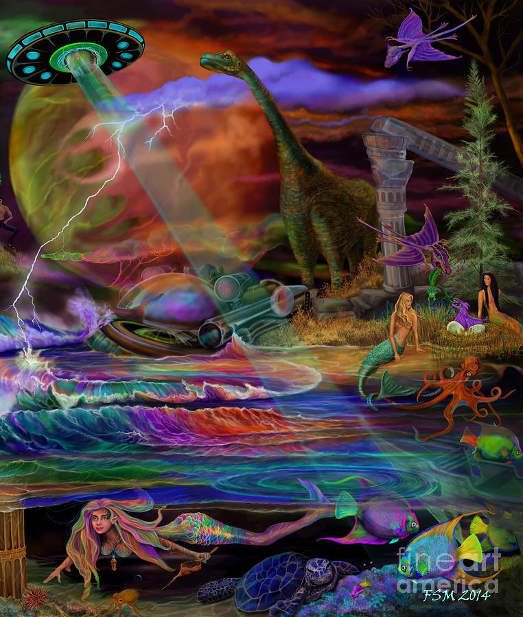 Where The Mermaids Meet Painting