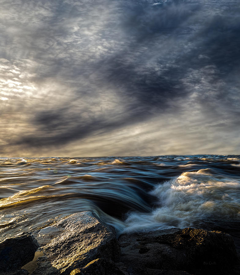 Where The River Kisses The Sea Photograph