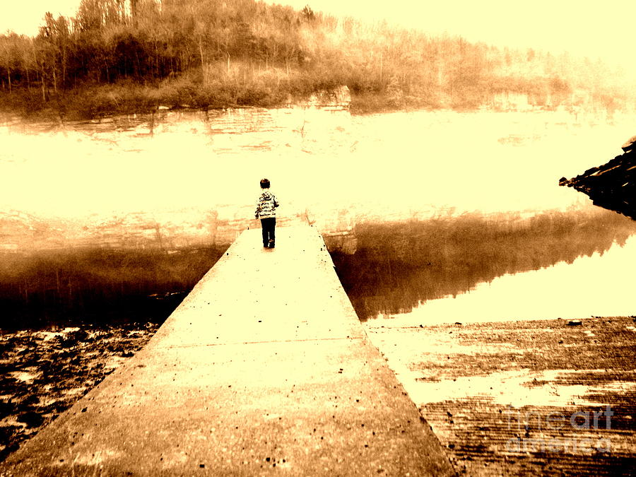 Boy Photograph - Where The Sidewalk Ends by Amy Sorrell