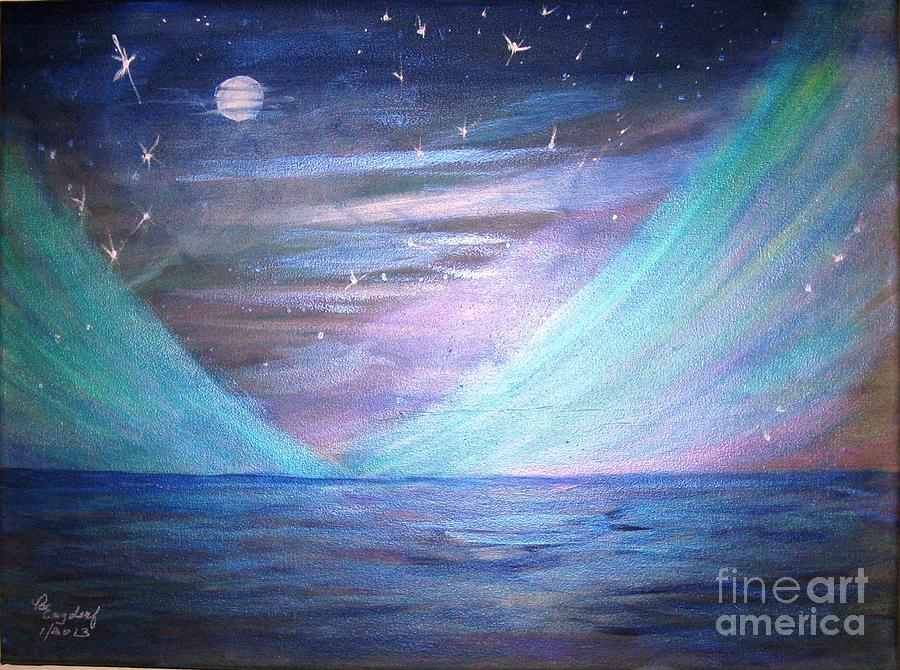 Seascape Painting - Where The Sky Meets The Sea by Betty and Kathy Engdorf and Bosarge