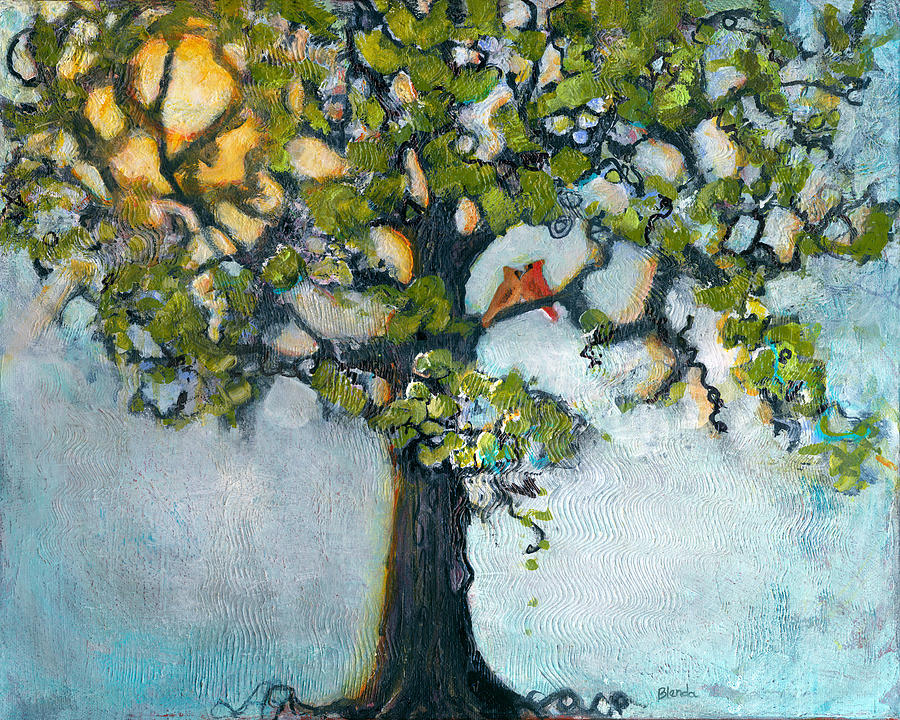 Tree Painting - Where There Is Love  by Blenda Studio