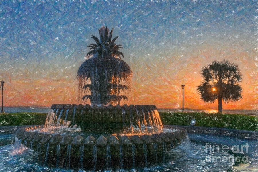 Whimsical Pineapple Sunrise Photograph