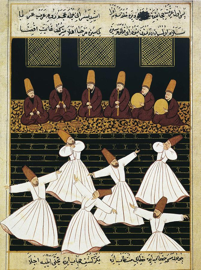 Whirling Dervishes 16th C.. Ottoman Photograph