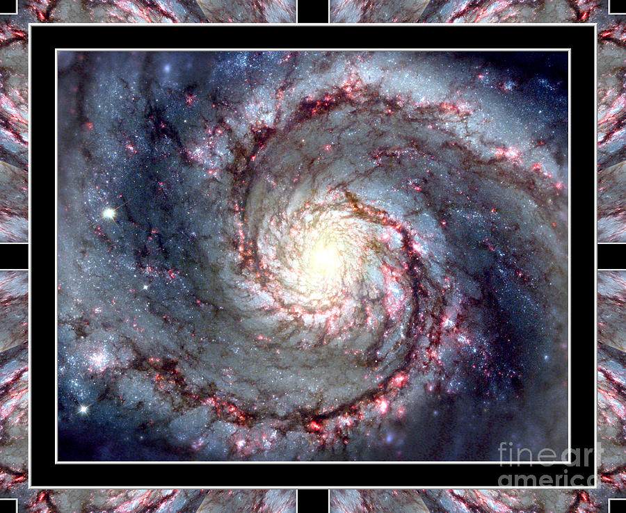 Whirlpool Galaxy Photograph - Whirlpool Galaxy Self Framed by Rose Santuci-Sofranko