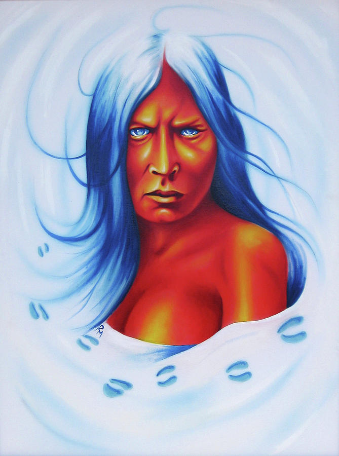 Whirlwind Woman Painting