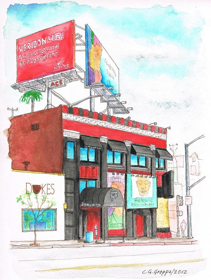 Whisky-a-go-go In West Hollywood - California Painting  - Whisky-a-go-go In West Hollywood - California Fine Art Print