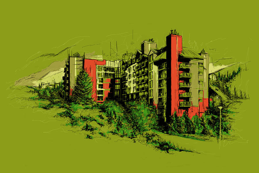 Vancouver Painting - Whistler Art 003 by Catf